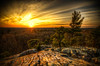 """""""Sunset at the top of Profile Rock""""<br /> Freetown, MA<br /> May 2012"""