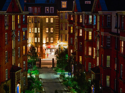 London Apartment Buildings at Night