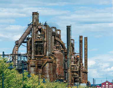 The Steel Stacks - being preserved as an historic ruin - in Bethlehem, PA
