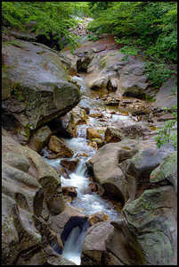 Waterfall from a little stream near Lake Newfound in New Hampshire