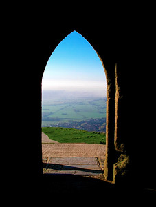 Glastonbury, UK As Seen From The Top Of The Tor