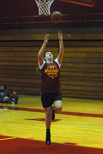 Westmont senior forward Tamara Patterson puts up a shot during practice on Friday, Nov. 2, 2012. Staff photo by Matthew Piechalak