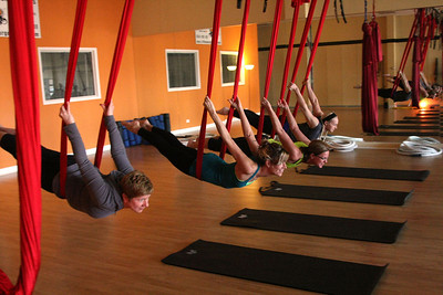 Aerial Yoga - HigherGround Fitness, Inc.  Photographer's Name: Diane Heimsoth Photographer's City and State: Woodstock, IL
