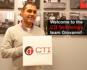CTI Technology is expanding and we would like to welcome Giovanni DIaz to the team!  Photographer's Name: Raymond Sturges Photographer's City and State: Elgin, IL
