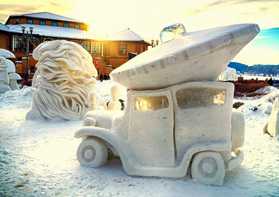 Riviera parking. Lake Geneva snow sculpture.  Photographer's Name: busterp Peterson Photographer's City and State: Hebron, IL