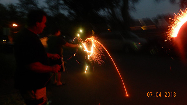 cool sparklers  Photographer's Name: Terri Chouinard Photographer's City and State: Richmond, IL