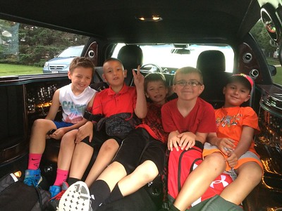 This is how you send your kid to school on their last day...in a limo!  Photographer's Name: Laura Raucci Photographer's City and State: Huntley, IL
