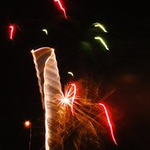 Fireworks, interesting formation  Photographer's Name: Sally Grippo Photographer's City and State: DeKalb, IL