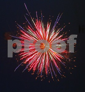Colorful. Hopkins Fireworks in DeKalb  Photographer's Name: Sally Grippo Photographer's City and State: DeKalb, IL