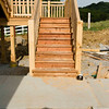 Stairs up to deck.