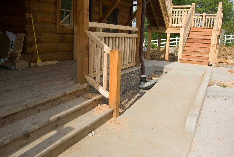 Back porch, ramp, stairs to deck.
