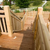 Stairs from balcony to deck.