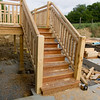 Stairs to deck.