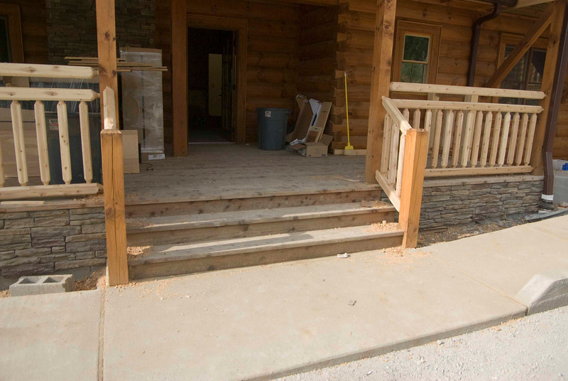 Stairs to back porch.