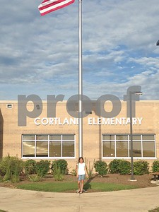 Hanitzi Gonzalez 1st day as a 5th Grader at Cortland Elementary  Photographer's Name: Jessica Rugerio Photographer's City and State: Cortland, IL