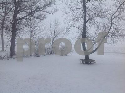 Winter Storm on Freed Rd -view of Peace. Rd  Photographer's Name: Jo Ewing Photographer's City and State: Sycamore, IL