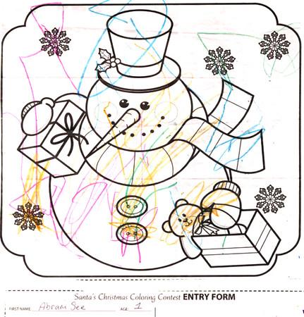 Santa Coloring Contest