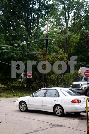 After a downed power line on Augusta  Photographer's Name: G. R. Photographer's City and State: dekalb, IL