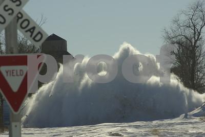 train blasting a drift in Elva IL  Photographer's Name: Clarke  Renard Photographer's City and State: Dekalb, IL