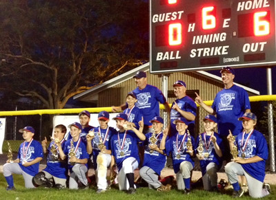 LaGrange Park Cubs won the LaGrange Park/ Westchester Majors Little League Championship- 6/28 Top left to right Coach -Matt O'Malley, Coach- Bob McDermott, Manager- Dean Haage Bottom left to right Ben Perry, Jacob Gorman, Bobby McDermott, Trace Haage, Danny O'Malley, Jimmy Brennan, Patrick O'Connell, Kyle Platt, Dayton Gaughan, Ryan McAlester, Taylor Cavanaugh   Not pictured: Daniel Herbeck and Angel Felix.   Photographer's Name: Matt O'Malley Photographer's City and State: LaGrange Park , IL