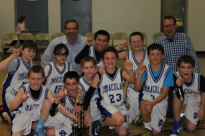 Immaculate Conception 5th Graders Capture End of Year Championship in Double Overtime Win versus St Francis by a score of  31-28!  Photographer's Name: Kathy  Hilgart Photographer's City and State: Elmhurst, IL