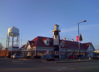 The Lighthouse Marketplace and Service Station, west on St. Charles Road and Ardmore Avenue, Villa Park, Illinois 60181 USA  Photographer's Name: Gardenia C. Hung Photographer's City and State: Lombard, IL