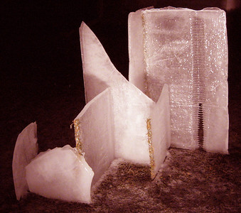"""First attempt and first night of our ice sculp, called """"Ice Henge""""  Photographer's Name: Tom Nied Photographer's City and State: Carol Stream, IL"""