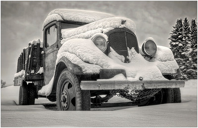 Old truck at the Puckerville Farm on Bell Road after this weeks wintry weather  Photographer's Name: Steve Zasadny Photographer's City and State: Lemont, IL
