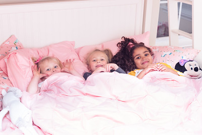 As soon as the girls got there they all agreed that they just had to have a sleep over.  I was amazed that Katelyn and Tori stayed and slept all night (this momma spent the night awake waiting to hear one of them crying and wanting mommy).