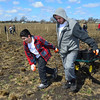 Volunteers from ComEd and Exelon worked with students from the Illinois Math & Science Academy planting oak trees at the Fitchie Creek Forest Preserve in Elgin on Saturday, April 20.  The event was part of Exelon's celebration of National Volunteer Week (April 21-27).<br /> <br /> Photographer's Name: Tony Marusic<br /> Photographer's City and State: Chicago, IL