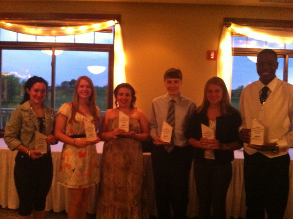 2011-2012 Kane County Chronicle Achievement Program Scholarship Winnners.  Winners were Jeremy Martens from St. Charles East, Anne Baldwin from Batavia High School, Katherine Minnis from Rosary, Erin Canning from Aurora Central Catholic, Alexander Belovsky from St. Francis, Jesse Mennis from Mooseheart, and Sydney Stuenkel from St. Charles North.<br /> <br /> Photographer's Name: Kelsey Rakers<br /> Photographer's City and State: St. Charles, IL