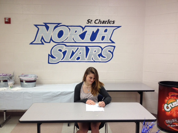 Carly Hudon (Senior at North High School-St Charles) Signing Letter of Intent to UIS today!<br /> <br /> Photographer's Name: Carly Hudon<br /> Photographer's City and State: St Charles, IL
