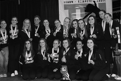 The St. Charles East varsity drill team finished in third place behind Neuqua Valley and Stevenson in the Class 4A Lyrical Division on March 4 at the Team Dance Illinois state championships.
