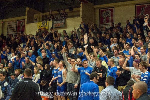 Geneva fans go crazy after the win against West Aurora<br /> <br /> Photographer's Name: Missy  Donovan<br /> Photographer's City and State: Geneva, IL
