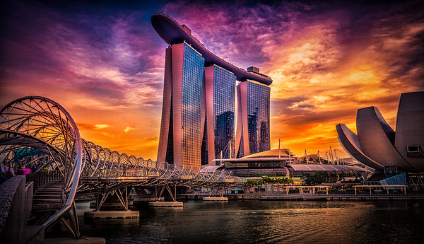 Sunset @ Marina Bay