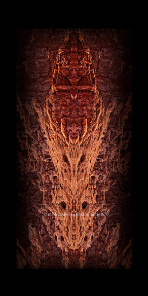 """Stone Faces"" 10x20"" Vertical Panorama Format abstract."
