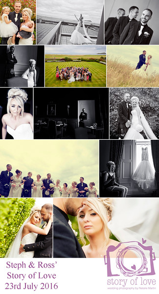 We met Natalie at a wedding fair and after speaking with numerous photographer's we knew instantly Natalie was right for us, so chatty, friendly, really cool laid back character. Everything on the day was simply spot on, she maid us feel so comfortable and relaxed. The pictures are truely awsome.....we absolutely love them and would highly recommend Natalie to capture you're special day !! Thanks again Natalie Ross & Steph xx