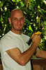 Me holding a male Black-throated Trogon that was caught while mist-netting at Rara Avis Rainforest Reserve, Costa Rica.<br /> <br /> Don Filipiak<br /> AsydaBass@yahoo.com