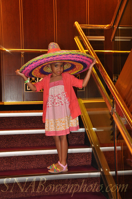 Abigail in Mexico on the cruise ship