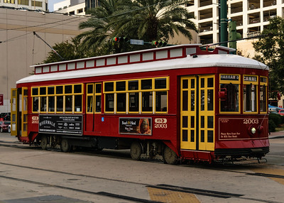 the famous street cars of NOLA