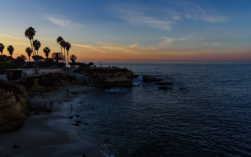 La Jolla cove at sunset