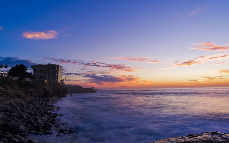 sunset from La Jolla cove