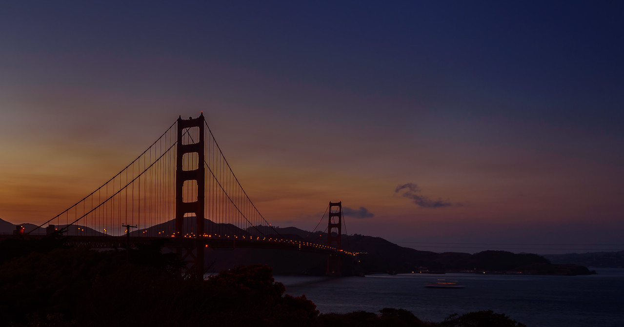 The most photographed bridge on Earth!!! sunset...