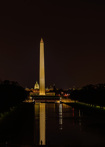 view of National Mall from Lincoln Memorial