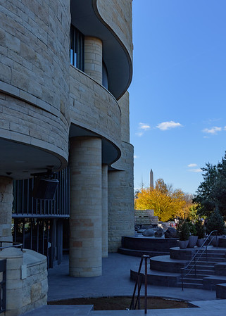 National Museum of the American Indian and Washington Monument in the background