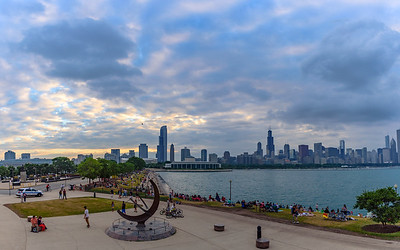 North Chicago skyline from Adler planetarium