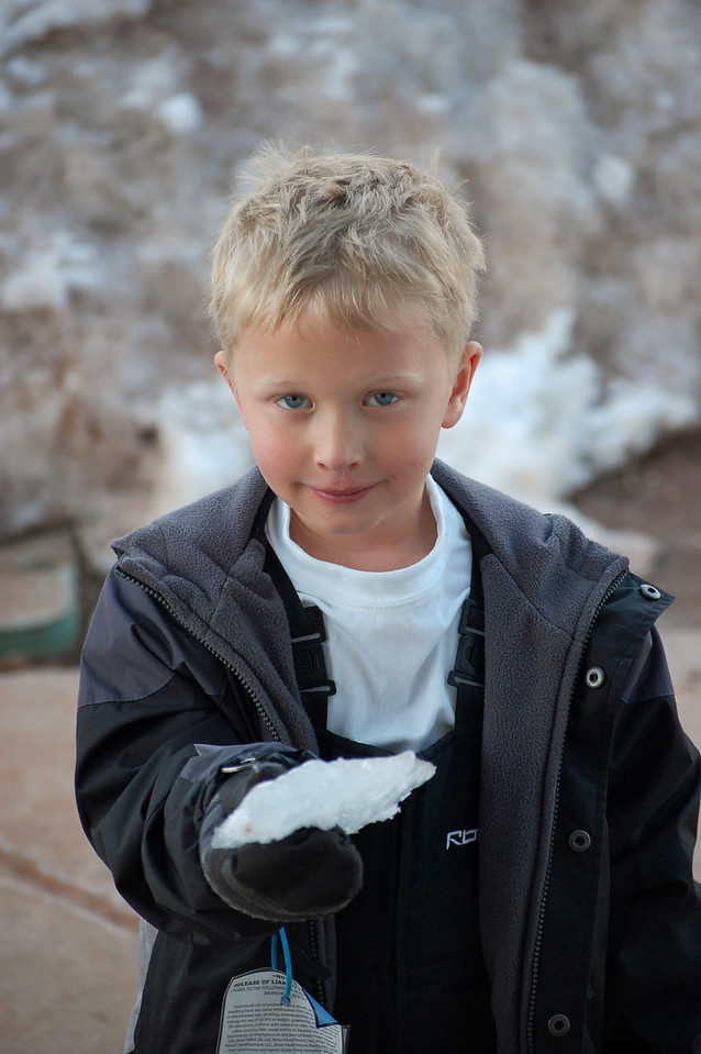 Mitchell liked to pick things up for me to photograph.  Brian Head Ski Resort, Utah.