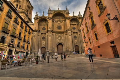 The square leading up to the beautiful Renaissance cathedral.