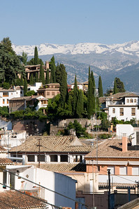 Granada is nestled in the foothills of the snowcapped Sierra Nevada.
