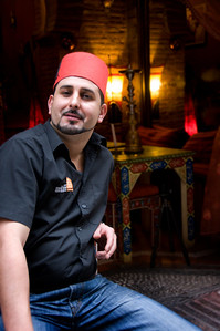 The proprietor of our favorite Moroccan teahouse.